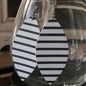 White with black stripes.